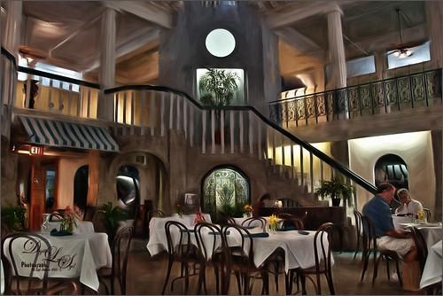 Image of the Alcazar Cafe using Topaz Impression