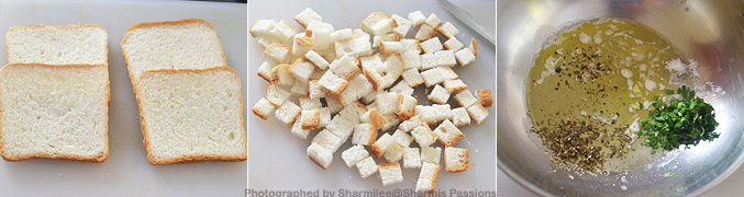 How to make homemade croutons - Step1