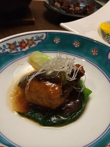 ホテル竜宮_夕食(イサキの揚げ煮)
