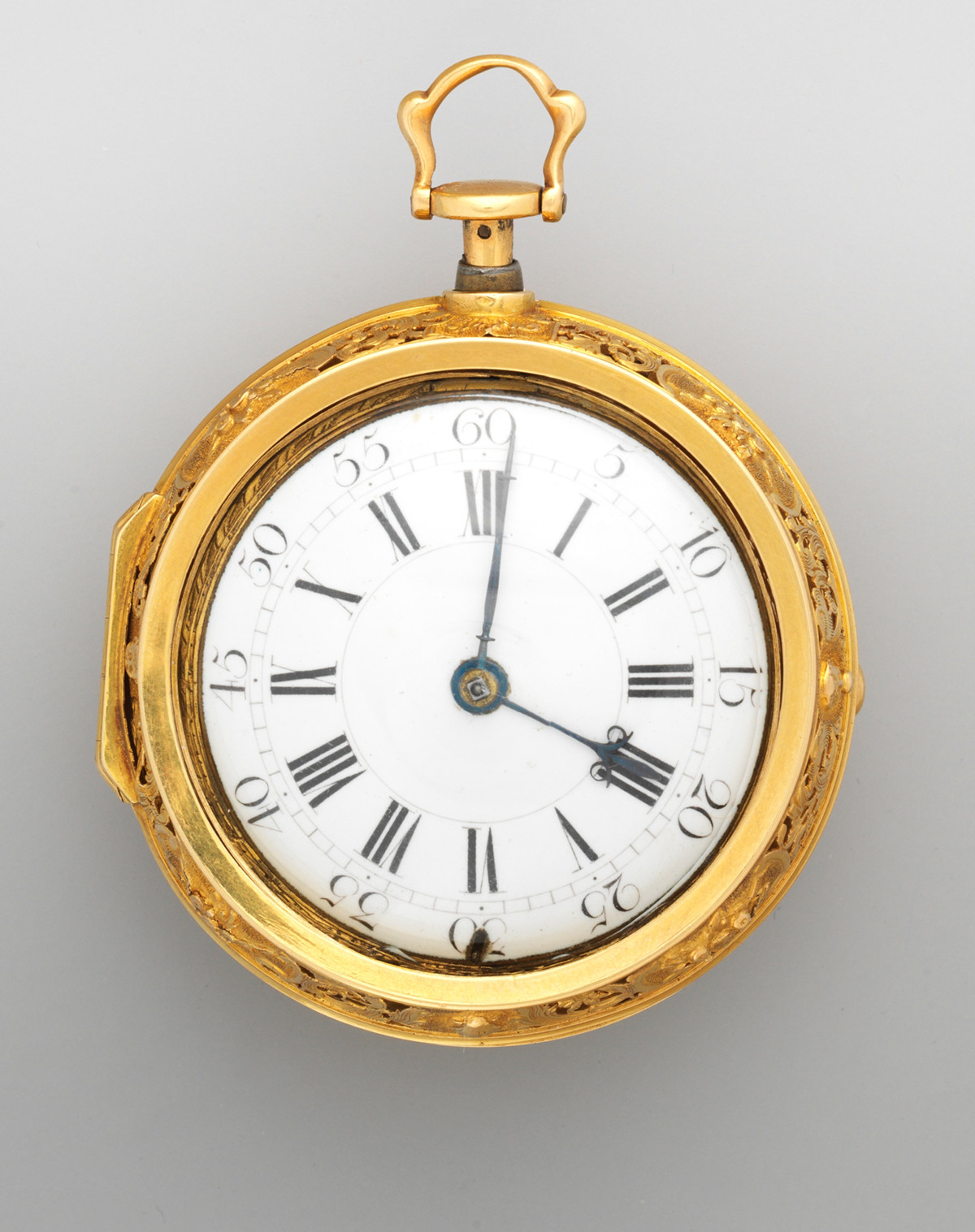 1740. Watch. British, London. Gold, enamel. metmuseum