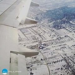 #Athens from above!  Covered in #snow!⛄❄🎿 By #thisisathens! #Greece #snowing #travel