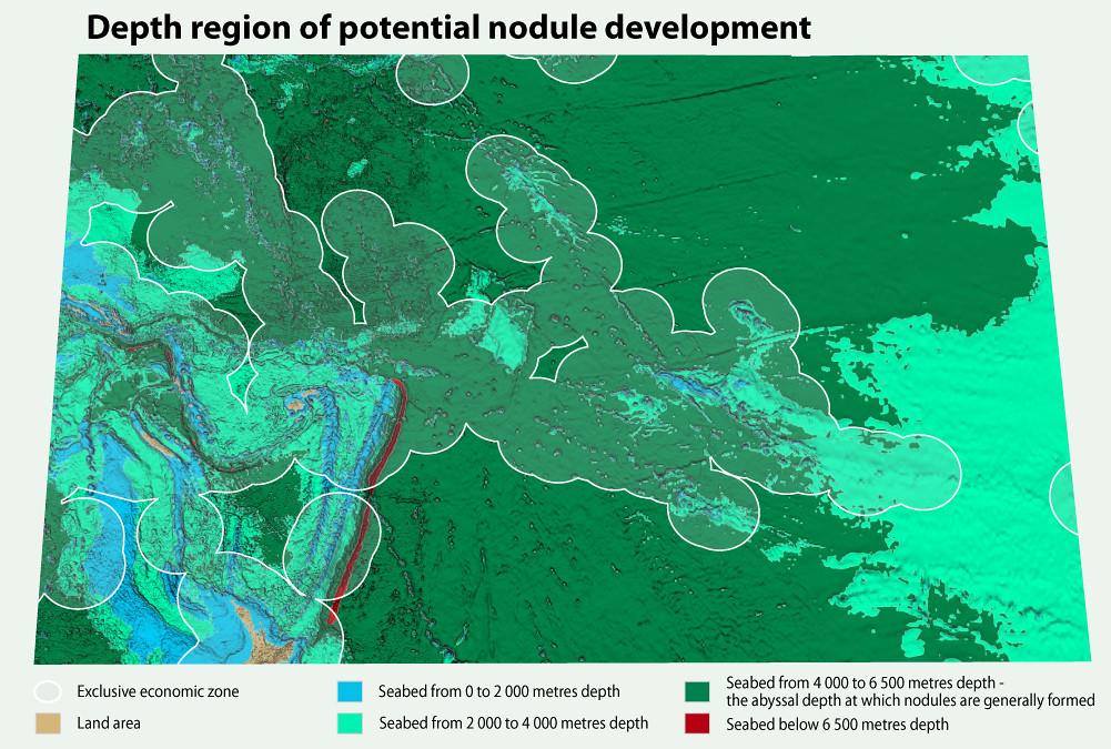 Depth Region Of Potential Nodule Development Grid Arendal