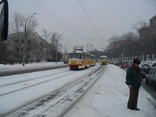 Moscow tram Tatra T3SU 3653