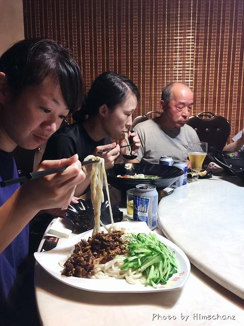 夜ご飯はホテル近くで麺w あまりの量にビックリ固まるえりちゃんw