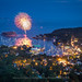 Camden Fireworks from Mount Battie by BenjaminMWilliamson