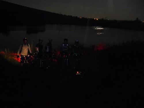 Lago di Crescenzi con Luna riflessa