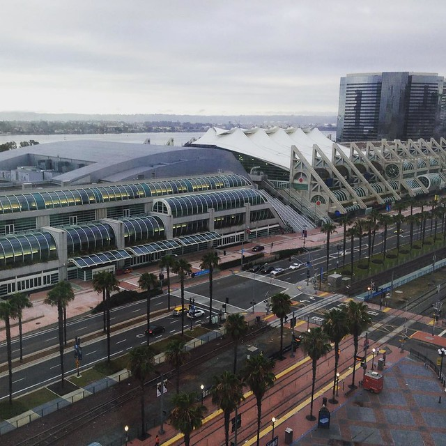Good morning, San Diego. My hotel room looks down over the convention center. I wonder if there's any leftover stuff from ComicCon.