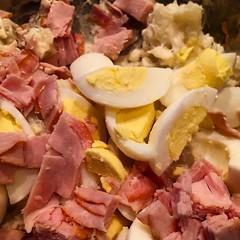 Kids asked for my smoked turkey potato salad. #4thofjulycontinues