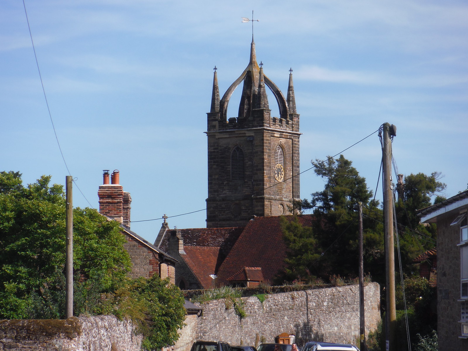 Tillington Church, Backview SWC Walk 217 Midhurst Way: Arundel to Midhurst