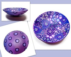 polymer clay Millefiori Large Bowl