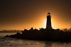 Sunset on Santa Cruz Lighthouse