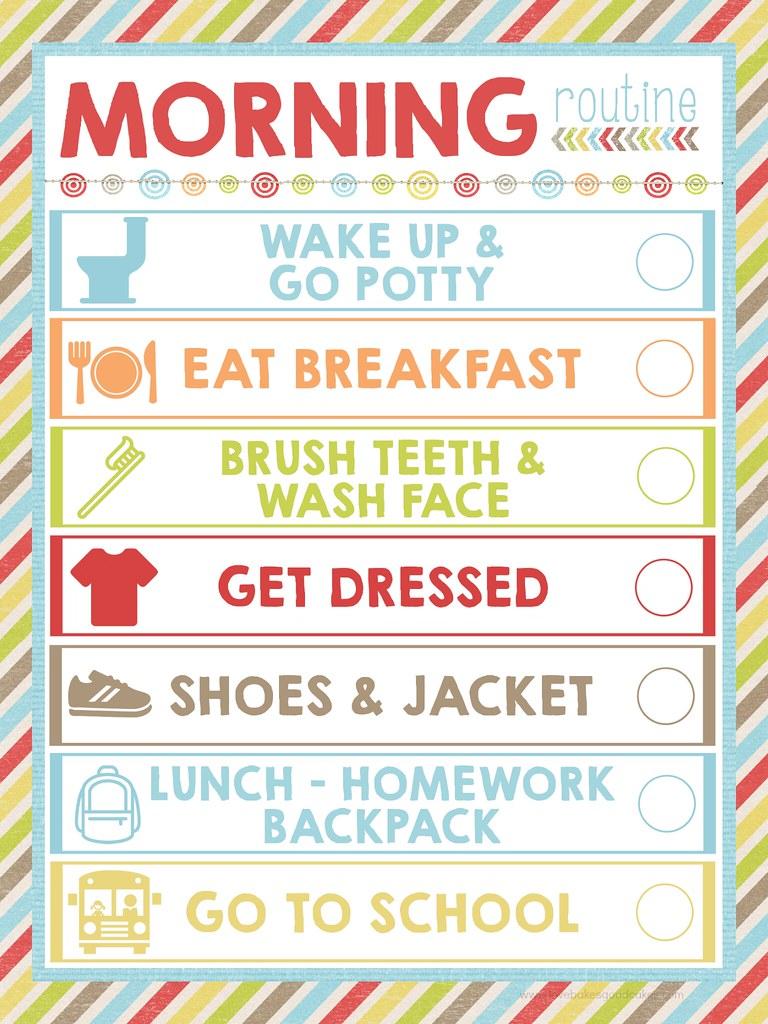 FREE Morning Routine Printable | Love Bakes Good Cakes