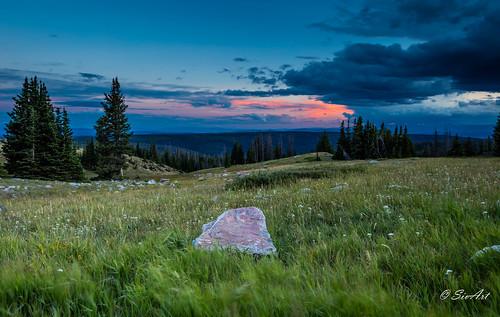 snowyrange clouds landscape sunset