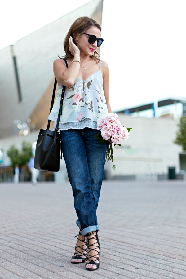 Joie 'Quinn' shoes + boyfriend jeans