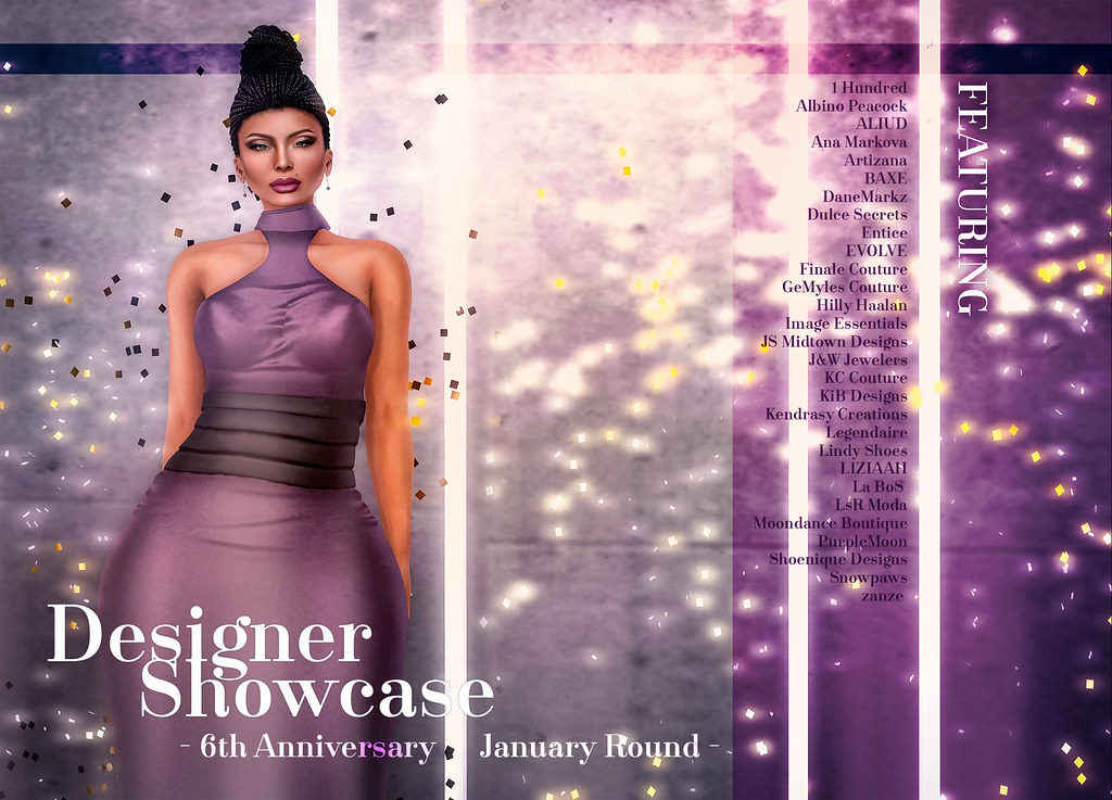 Designer Showcase - January 2017 - 6th Year Anniversary Celebration - SecondLifeHub.com