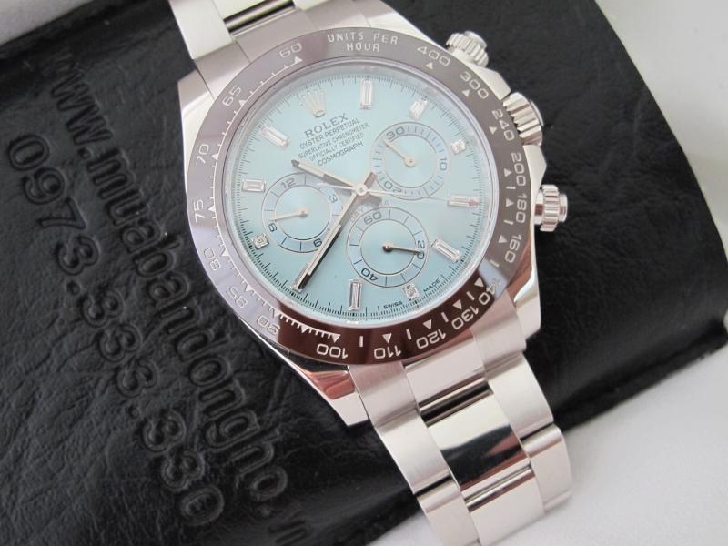 Bán đồng hồ Rolex daytona 6 số 116506 – Trắng Platinum PT 950 – Kim Cương – Size 40mm