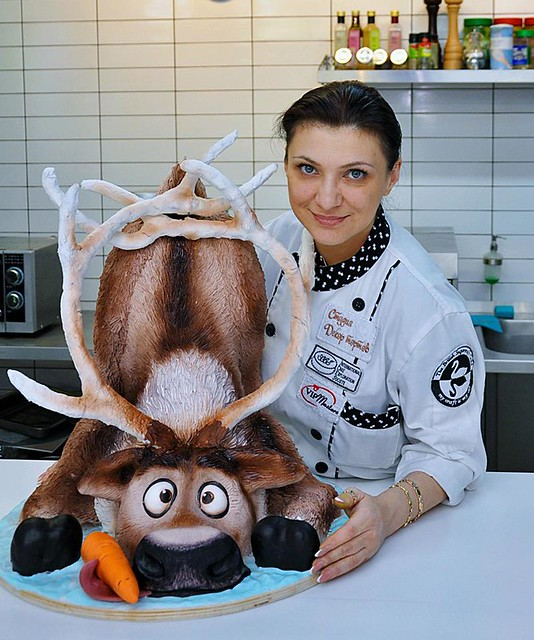 Cake from Sculpted cakes. Tatiana Shkoda.