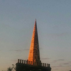 Sunset on a spire.