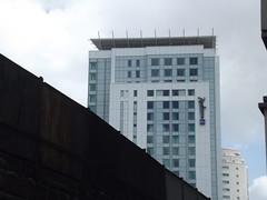 St Mary Street, Cardiff - railway bridge - Radisson Blu