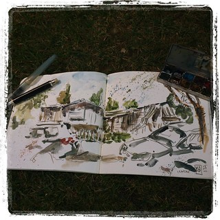 #camping #watercolor #pencil #urbansketch