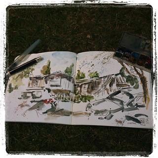 #camping #watercolor #pencil #urbansketch