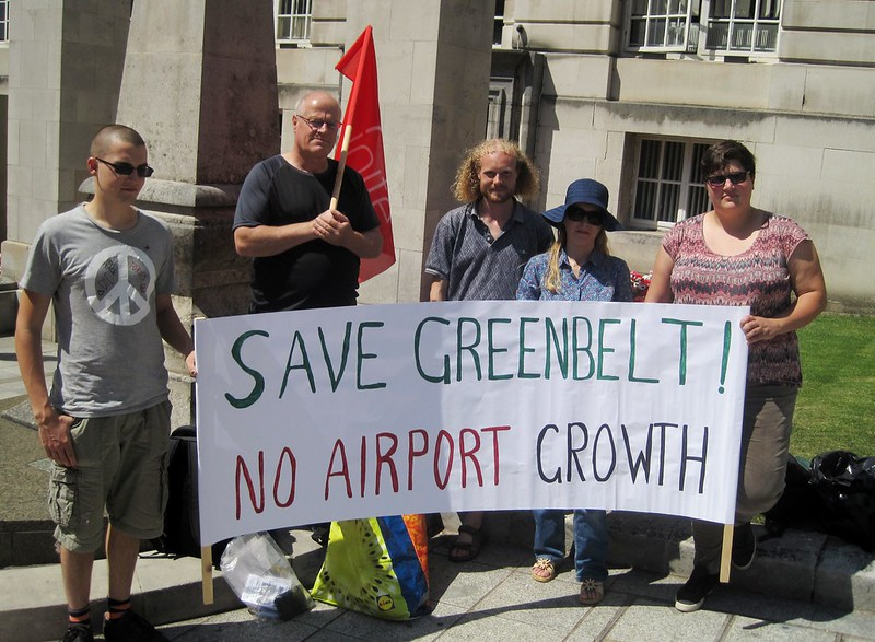 Leeds Bradford Airport protest