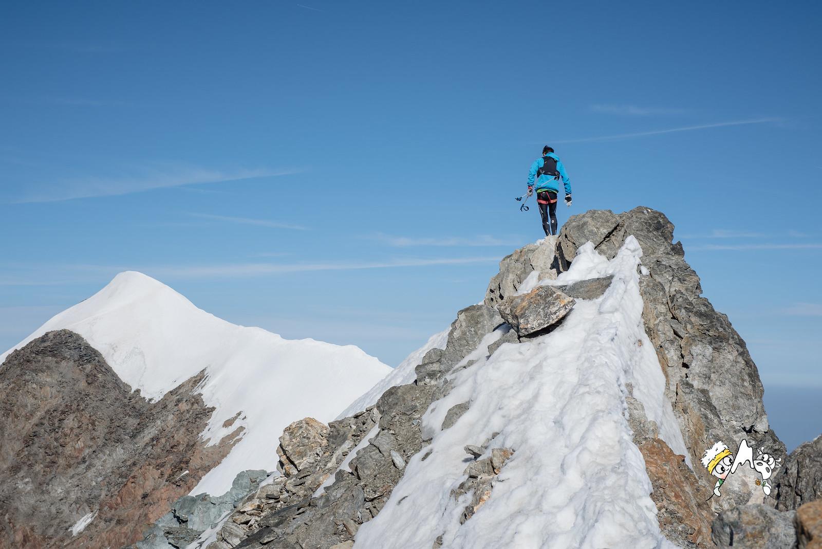 Při výstupu na Mt. Blanc. S laskavým svolením Marca De Gasperiho.