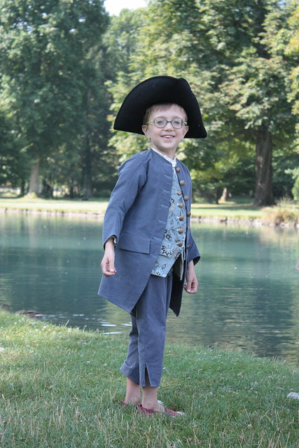 Costume rococo pour petit garçon, 6 ans