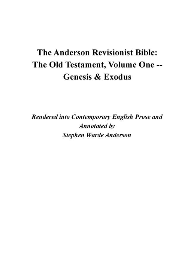 Stephen Warde Anderson - Internet Bible Catalog