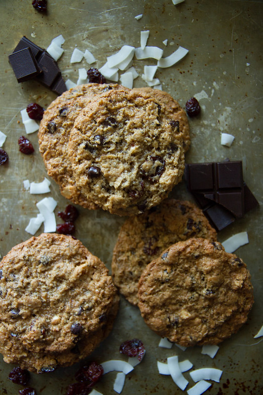 Dark Chocolate cherry Cashew Cookies