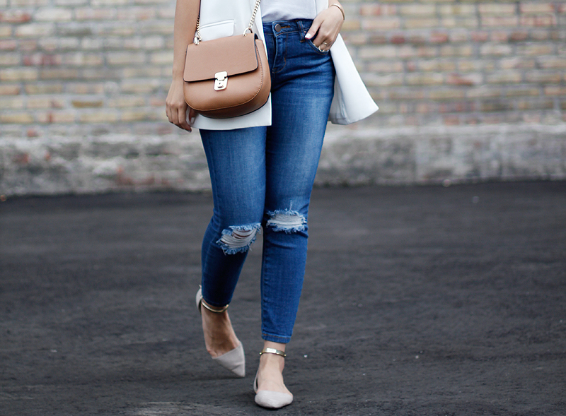 White Vest & Ripped Jeans