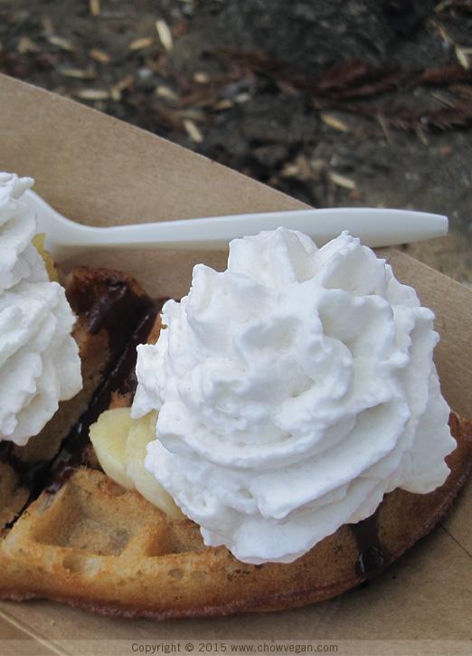 Vegan Banana Cream Mochi Waffle