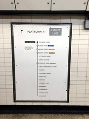 Jubilee line signage at Charing Cross station