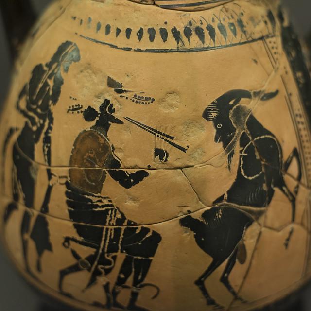 Athenian Black Figure pelike attributed to the Eucharides Painter, from Samothrace (I)