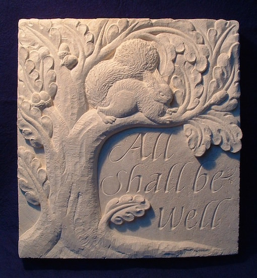 Relief carving. Ancaster limestone.