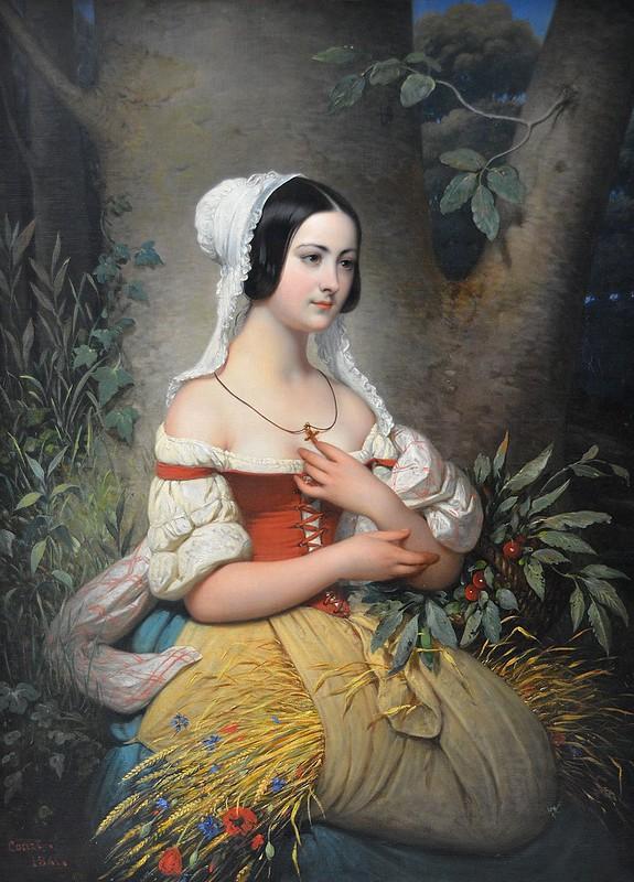 """Rouen (Seine-Maritime) - Musée des Beaux-Arts - """"Une glaneuse, 1841"""" (Joseph-Désiré Court, 1796-1865)"""