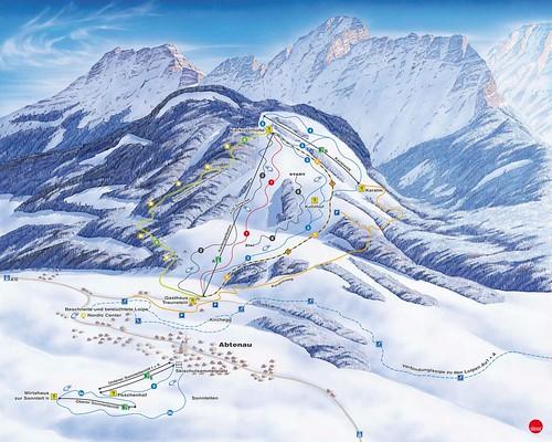 Abtenau - Karkogel - mapa sjezdovek