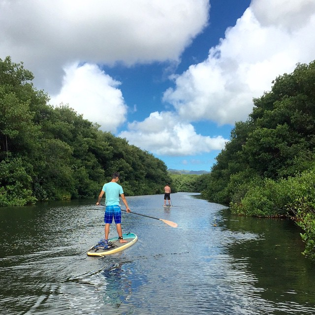 It was a SUP Kind of Day #kauai #Hawaii #sup