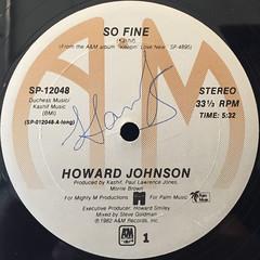 HOWARD JOHNSON:SO FINE(LABEL SIDE-A)