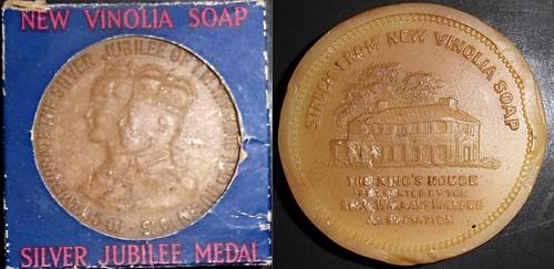 1935-2 George V, Silver Jubilee soap medal