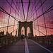Brooklyn Bridge Sunset - New York City by Vivienne Gucwa