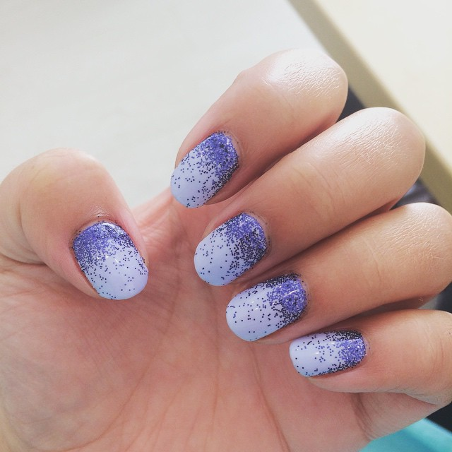 Blue and glittery for spring summer.