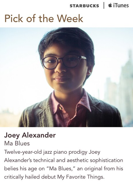 Starbucks iTunes Pick of the Week - Joey Alexander - Ma Blues