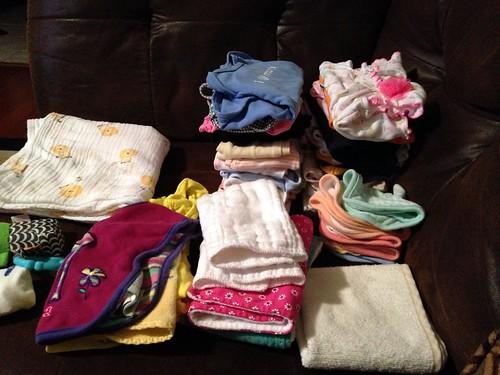 Folded Baby Laundry