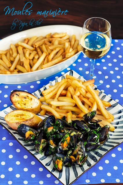 Moules marinière - Midii in sos de vin (10)