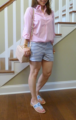 pink + blue stripes
