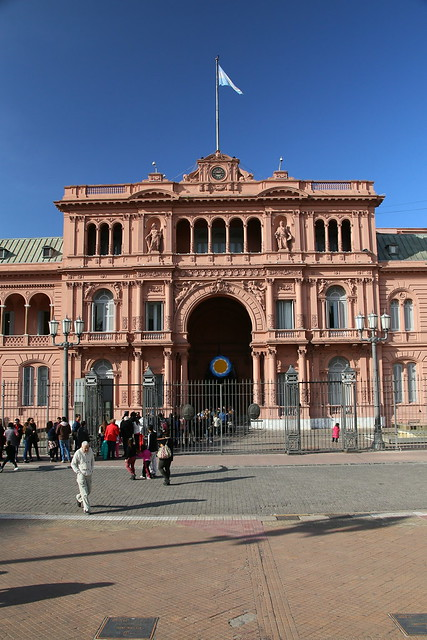 Casa Rosada.  Buenos Aries, Argentina.