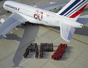 Air France A380 80 años (Air France)