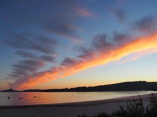 Imagen de Praia de Nerga. sunset cloud beach playa galicia cies nerga