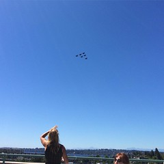 At work - Watching The U.S. Navy Blue Angles practicing for the Seafair Air Show. #pnw